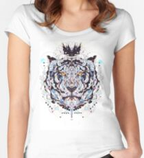 geometric colorful art Women's Fitted Scoop T-Shirt