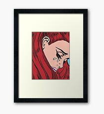 Red Head Crying Comic Girl Framed Print
