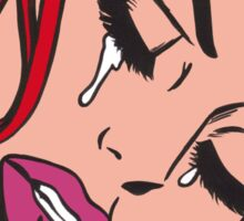 Red Hair Crying Comic Girl Sticker