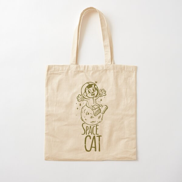 Space Cat Cotton Tote Bag