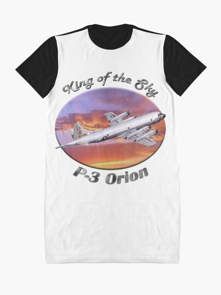 Alternate view of P-3 Orion King Of The Sky Graphic T-Shirt Dress