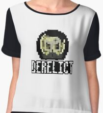 Derelict Sticker Logo Chiffon Top
