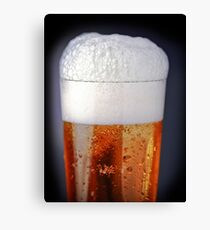 Full glass of cold beer Canvas Print