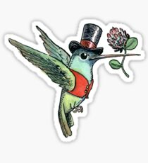Dapper Hummingbird Sticker