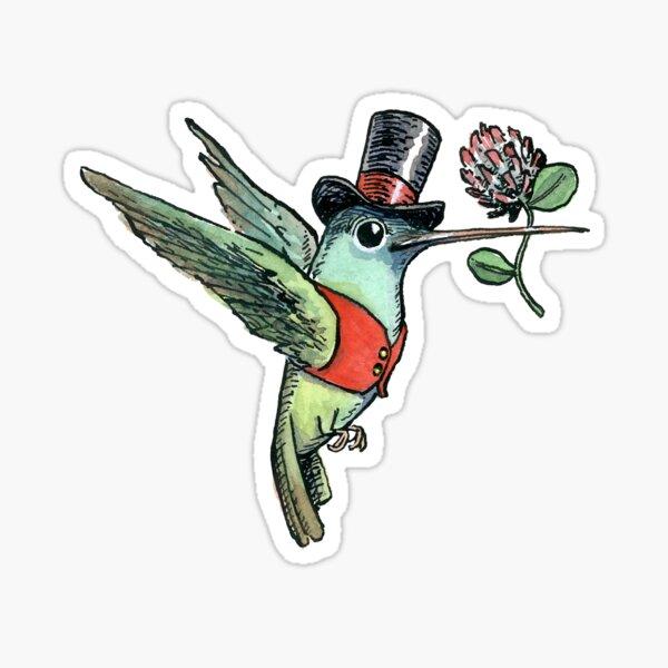 Dapper Hummingbird, Bird Lover's design Sticker
