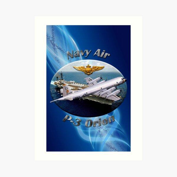P-3 Orion Navy Air Art Print