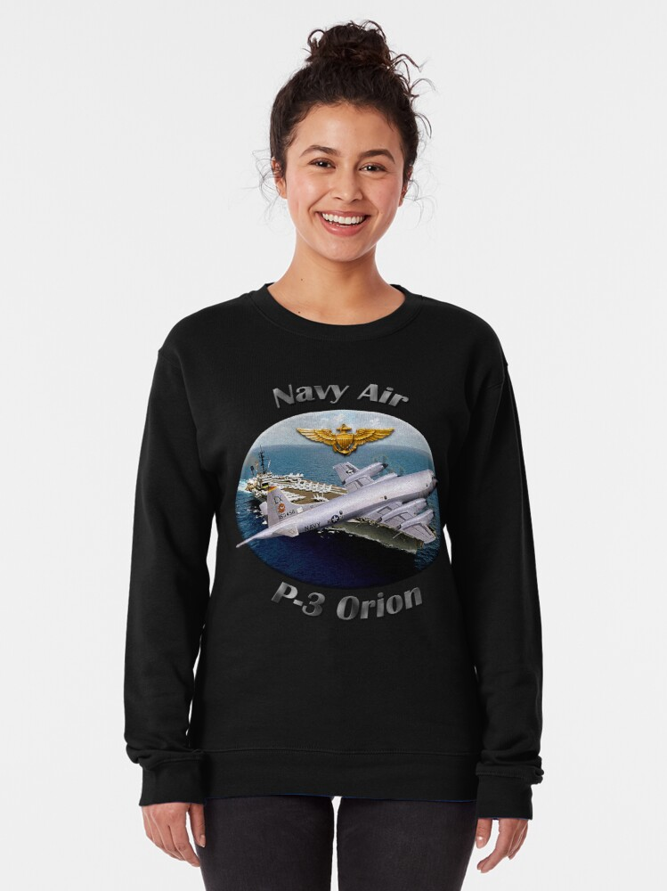 Alternate view of P-3 Orion Navy Air Pullover Sweatshirt
