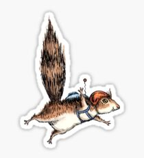 Skydiver Squirrel Sticker