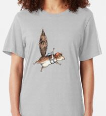Skydiver Squirrel Slim Fit T-Shirt
