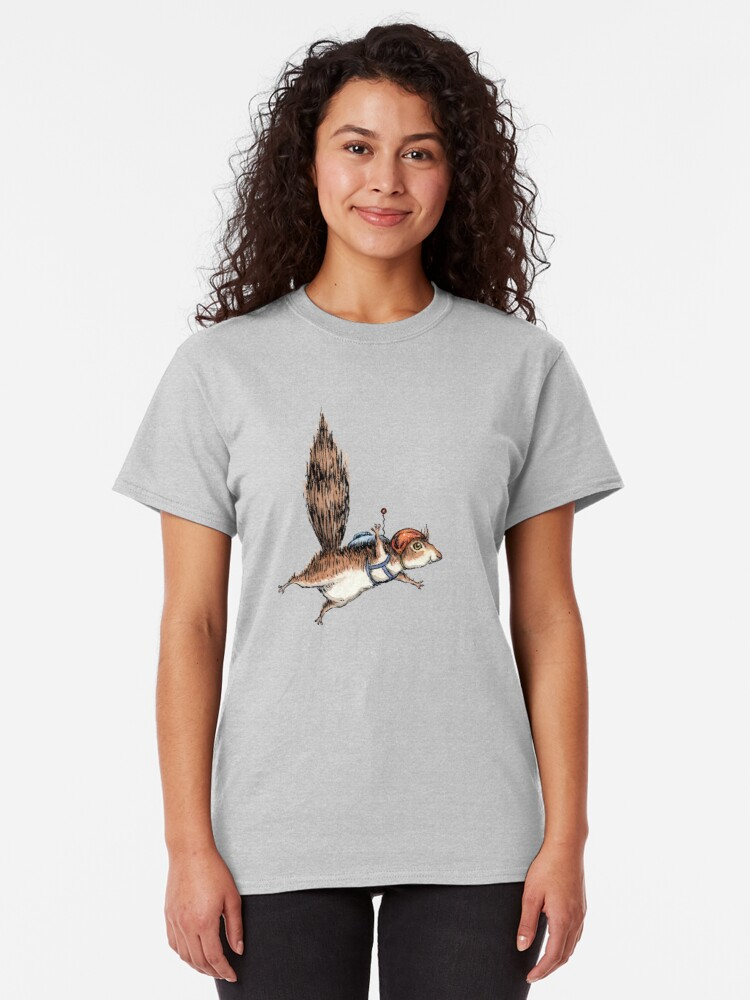 Alternate view of Skydiver Squirrel Classic T-Shirt