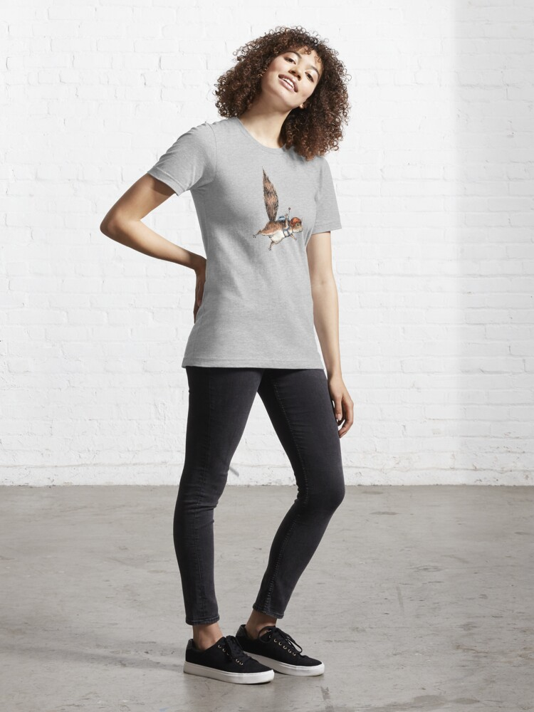 Alternate view of Skydiver Squirrel, Skydiving Adventure Design Essential T-Shirt