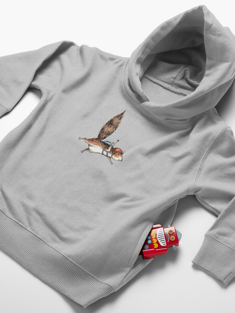 Alternate view of Skydiver Squirrel Toddler Pullover Hoodie