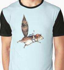 Skydiver Squirrel Graphic T-Shirt