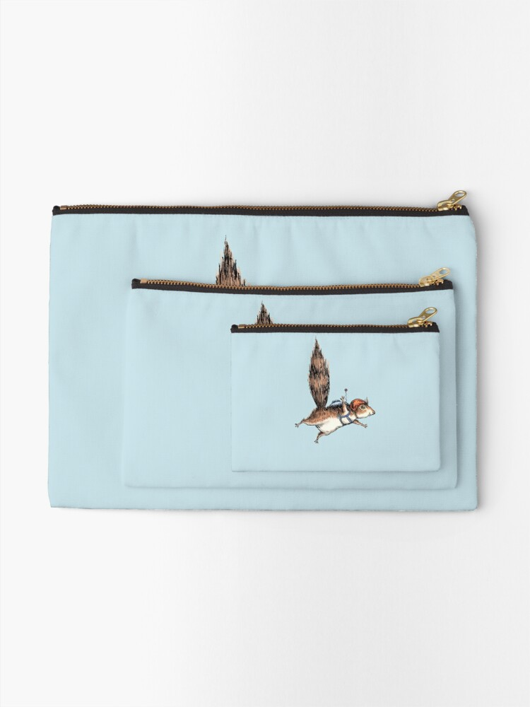 Alternate view of Skydiver Squirrel Zipper Pouch