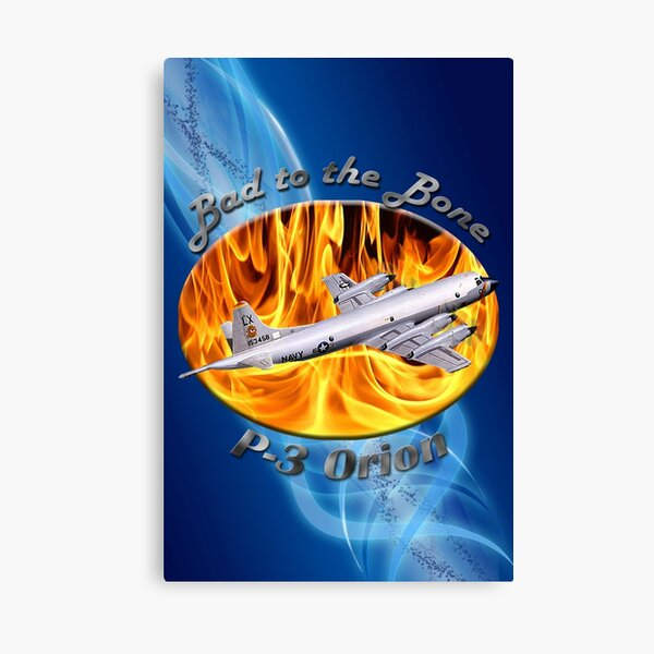 P-3 Orion Bad To The Bone Canvas Print