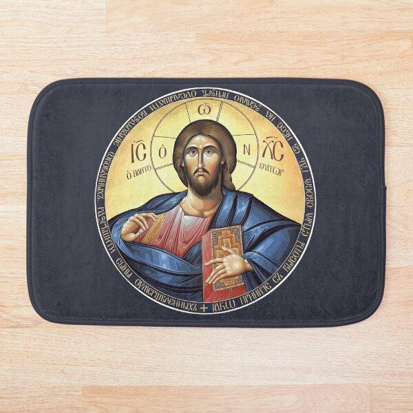 Christ Pantocrator Icon Bath Mat
