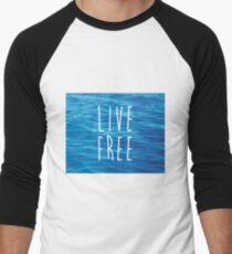 Live Free Ocean Design T-Shirt