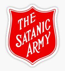 Satanic Army Salvo Shield Sticker
