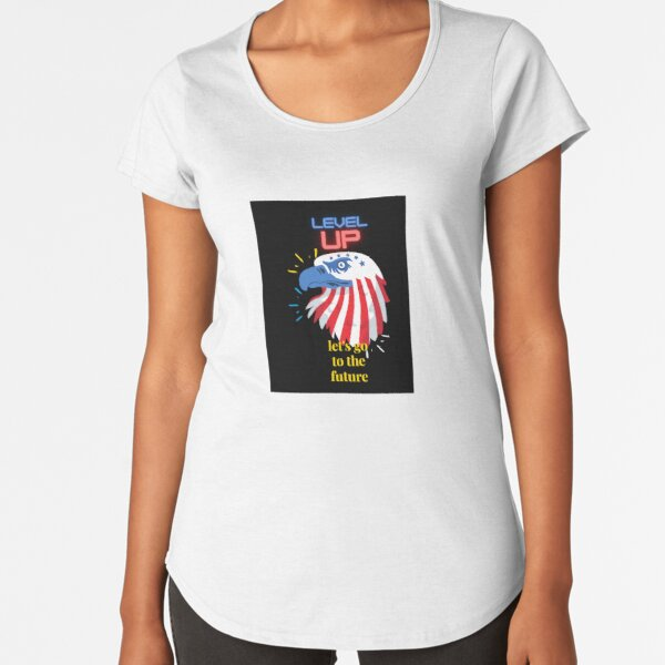 let's go to the future in united state Premium Scoop T-Shirt