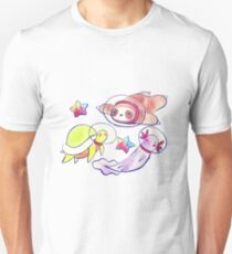 Space Sloth Turtle and Axolotl T-Shirt