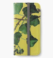 Efeublätter iPhone Flip-Case/Hülle/Klebefolie