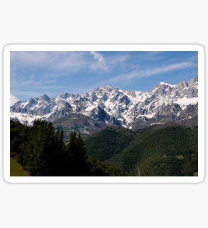 Mountain range Sticker
