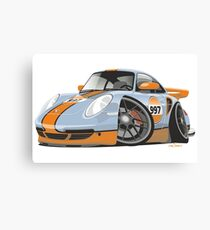 Porsche 911 997 Turbo caricature Canvas Print
