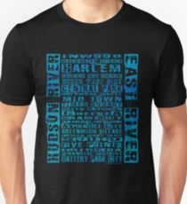 NYC Neighborhoods Blue Unisex T-Shirt