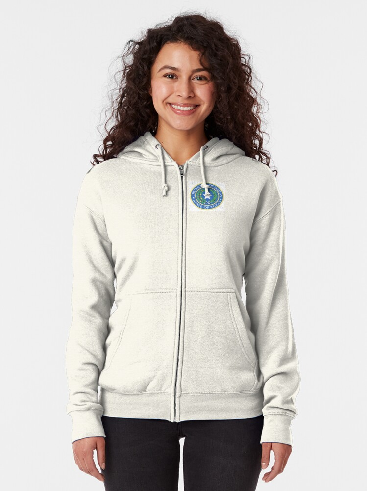 Alternate view of DALLAS COUNTY TEXAS Zipped Hoodie