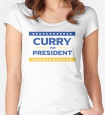 Curry for President Women's Fitted Scoop T-Shirt