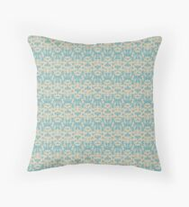 Vintage wallpaper pattern. Abstract floral ornament. Throw Pillow