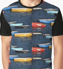 Boats Of Many Colours Graphic T-Shirt