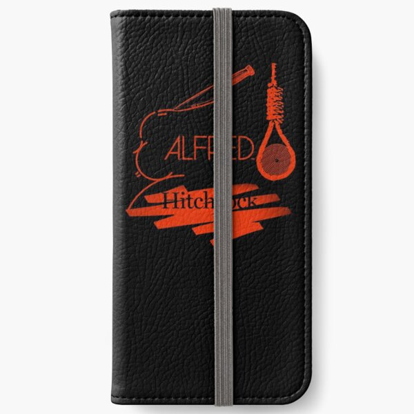 Alfred Hitchcock (Black Version) iPhone Wallet