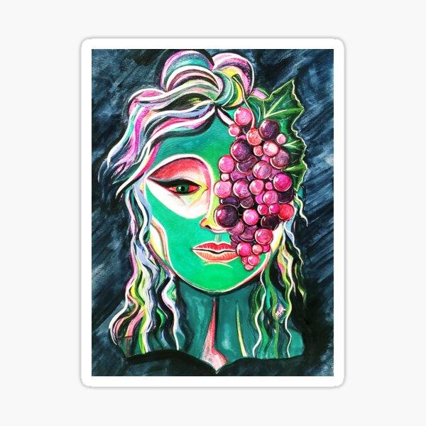 Dionysia, or The Grape Goddess: Watercolor Sticker