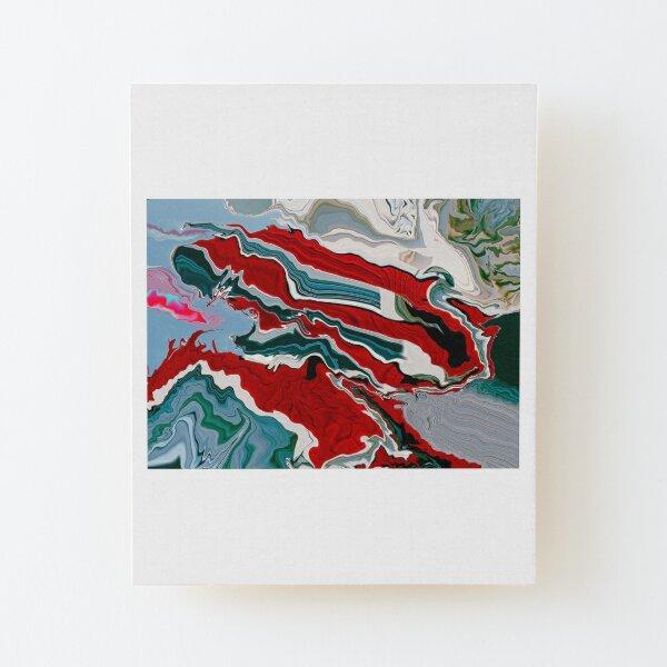 A Mess Wood Mounted Print