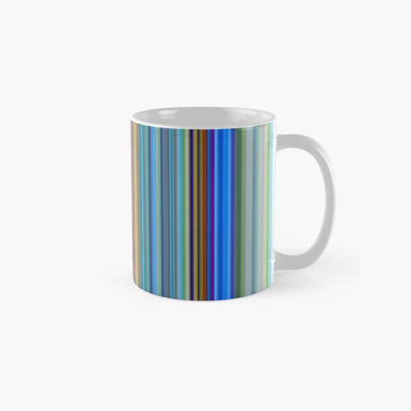 Multicolor Striped Abstract Pattern Classic Mug