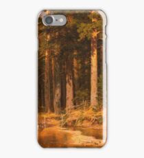 Vintage famous art - Ivan Shishkin - Mast-Tree Grove 1887 iPhone Case/Skin