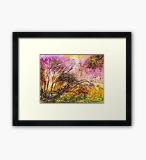 Trail Walk Hidden View Framed Print