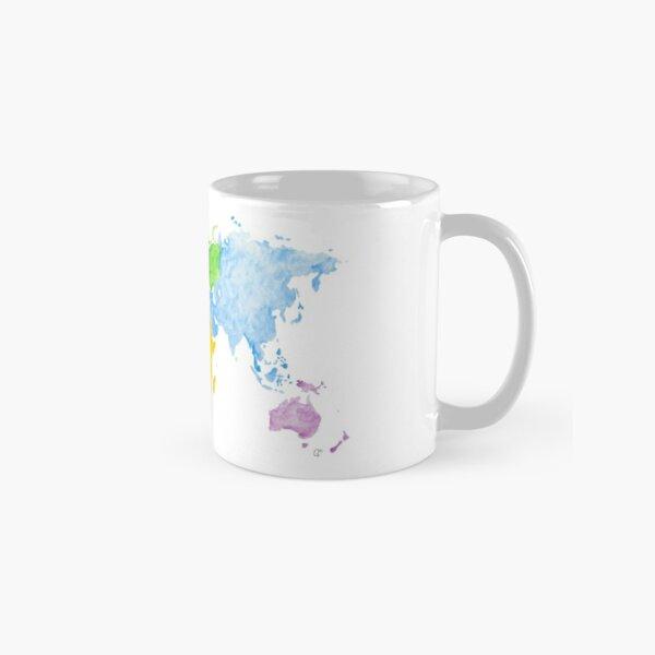 Weltkarte Aquarell Tasse (Standard)