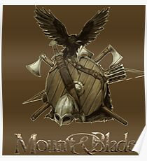Blade, axe and shield Poster