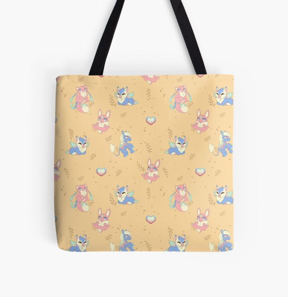 Rainbow Pastel Baby Sylesties All Over Print Tote Bag