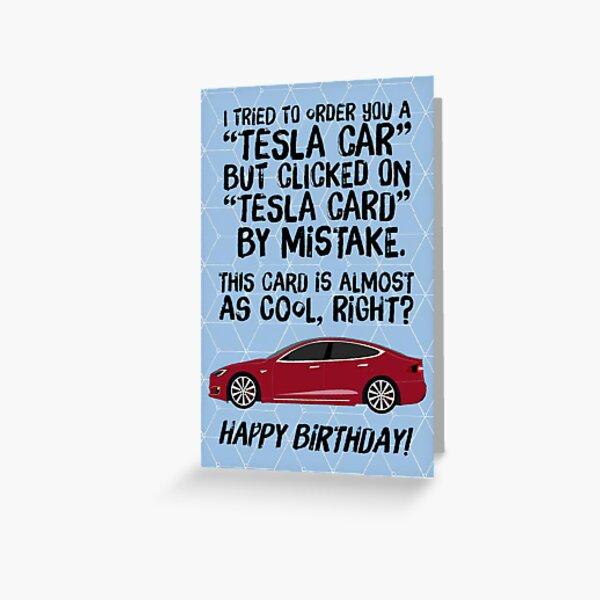 tesla cyber truck,  Funny Birthday Card, love cat cards, Greetings Card,birthyear,Funny Car Birthday Card,england lovers, funny birthday for boyfriend, robot, bot Greeting Card