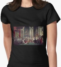 Vintage famous art - Jacques-Louis David - The Consecration Of The Emperor Napoleon And The Coronation Of The Empress Josephine  Womens Fitted T-Shirt