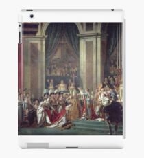 Vintage famous art - Jacques-Louis David - The Consecration Of The Emperor Napoleon And The Coronation Of The Empress Josephine  iPad Case/Skin