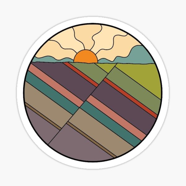 Beauty in the Fault; Normal Fault, Geologic Structure with Sunrise Sticker