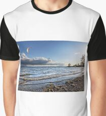 Kite Surfer near Fischbach - Lake Constance, Germany Graphic T-Shirt