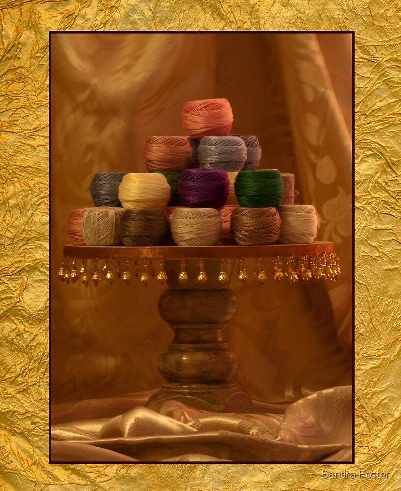 Spools Of Cotton by Sandra Foster
