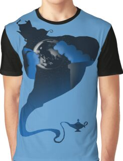 The Genie and the Moon  Graphic T-Shirt