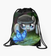 Octavia and the Blue Butterfly Drawstring Bag