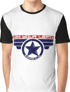 """On Your Left Running Club"" Hybrid Graphic T-Shirt"